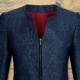 Camicia da divisa donna elegante, maniche corte, modello semi-fit, colore grigio, tessuto poliestere cotone, gonna elegante blu