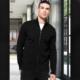 Camicia da divisa donna elegante, maniche corte, modello semi-fit, colore grigio, tessuto poliestere cotone