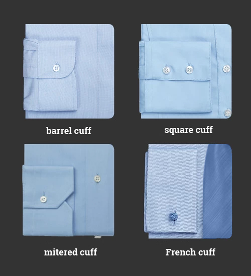 Shirt cuff styles